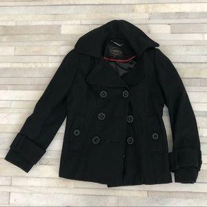 Black Pea Coat size Small